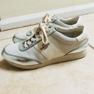 Coach Runners Sneakers Chalk White Silver Beige